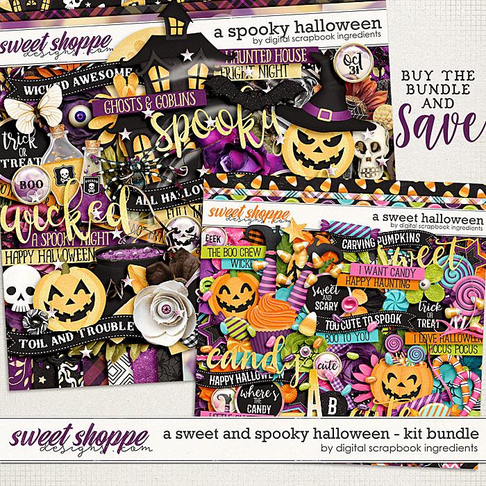 A Sweet and Spooky Halloween Kit Bundle by Digital Scrapbook Ingredients