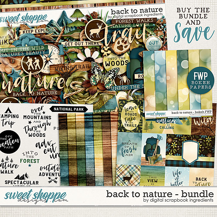 Back To Nature Bundle & *FWP* by Digital Scrapbook Ingredients
