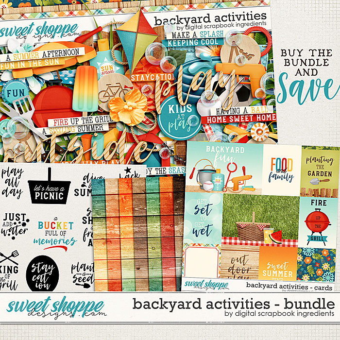 Backyard Activities Bundle by Digital Scrapbook Ingredients