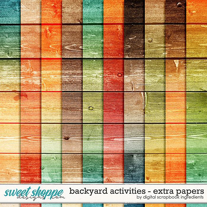 Backyard Activities | Extra Papers by Digital Scrapbook Ingredients