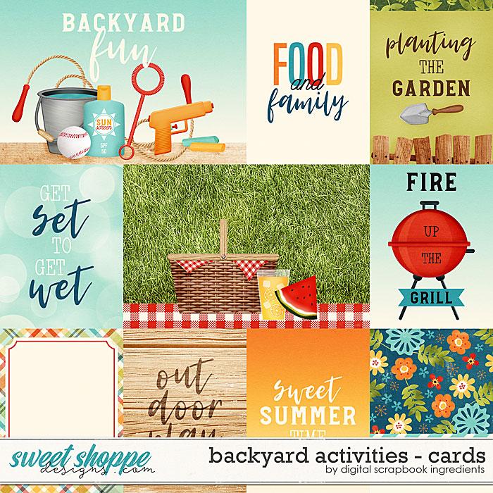 Backyard Activities | Cards by Digital Scrapbook Ingredients