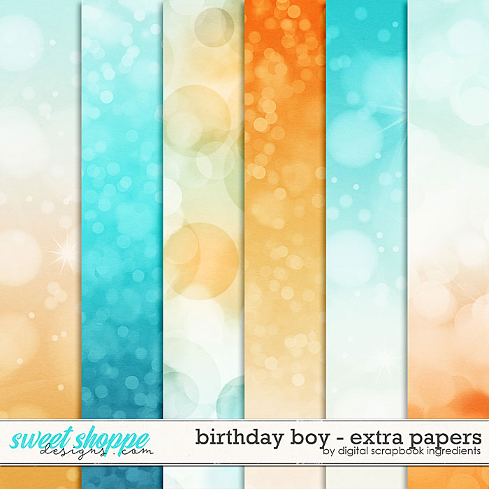 Birthday Boy | Extra Papers by Digital Scrapbook Ingredients