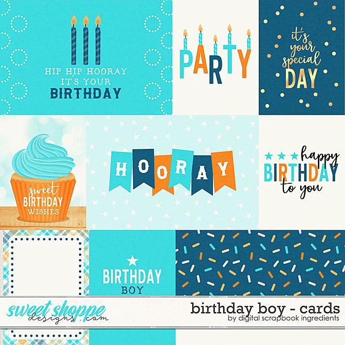 Birthday Boy | Cards by Digital Scrapbook Ingredients