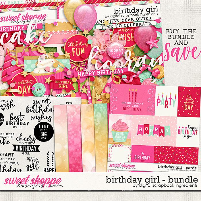 Birthday Girl Bundle by Digital Scrapbook Ingredients