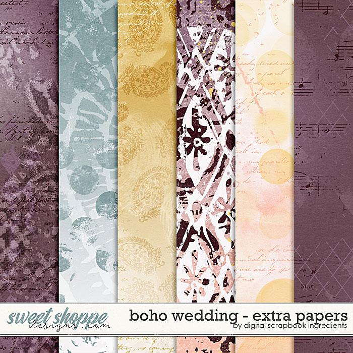 Boho Wedding | Extra Papers by Digital Scrapbook Ingredients