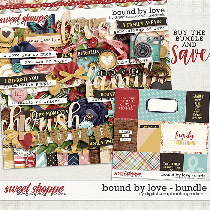 Bound By Love Bundle by Digital Scrapbook Ingredients