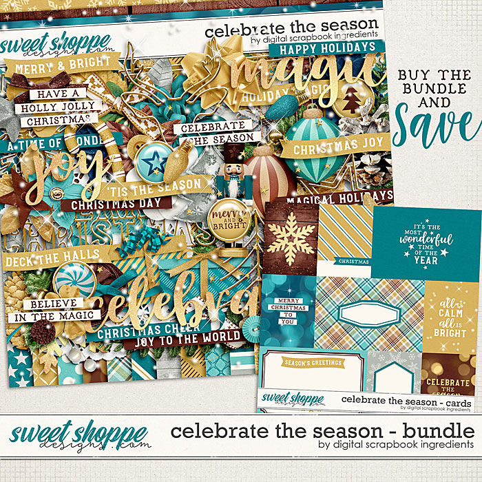 Celebrate The Season Bundle by Digital Scrapbook Ingredients