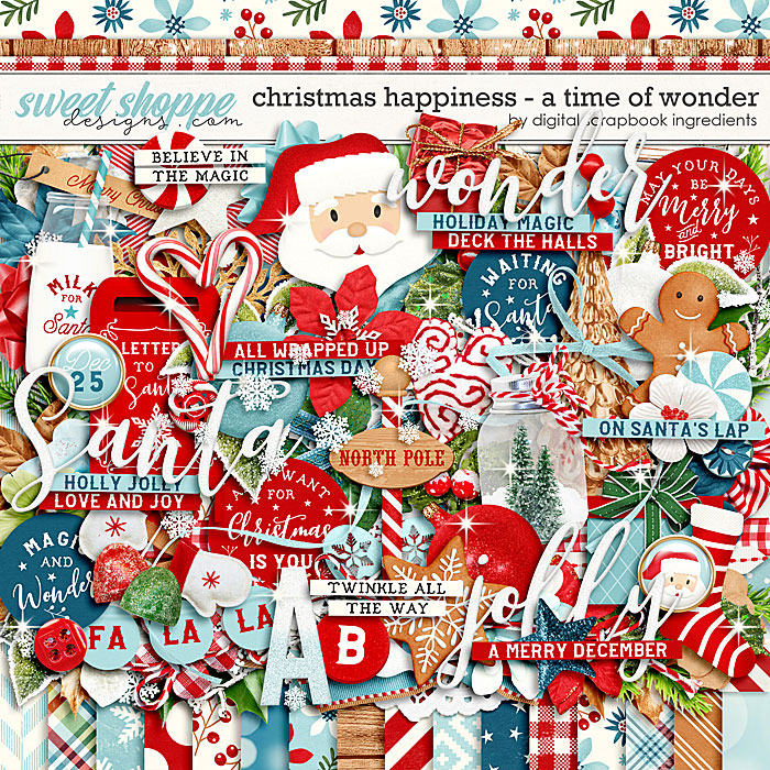 Christmas Happiness : A Time Of Wonder by Digital Scrapbook Ingredients