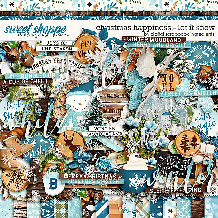 Christmas Happiness : Let It Snow by Digital Scrapbook Ingredients