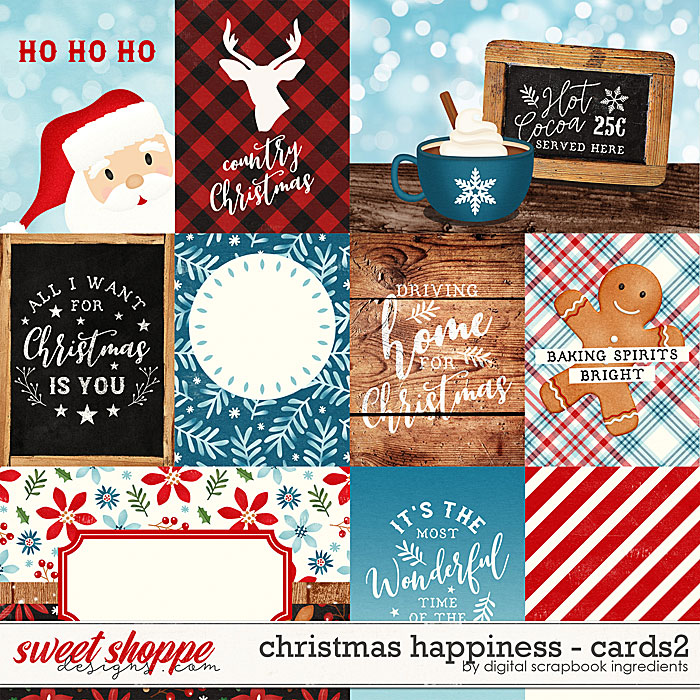Christmas Happiness | Cards2 by Digital Scrapbook Ingredients