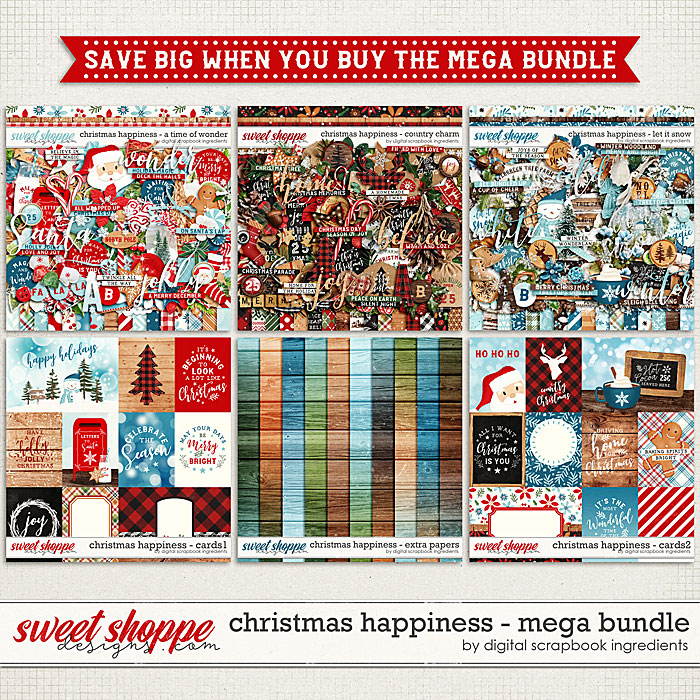 Christmas Happiness Mega Bundle by Digital Scrapbook Ingredients
