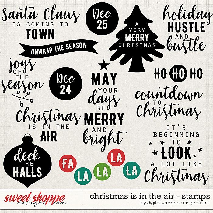 Christmas Is In The Air | Stamps by Digital Scrapbook Ingredients