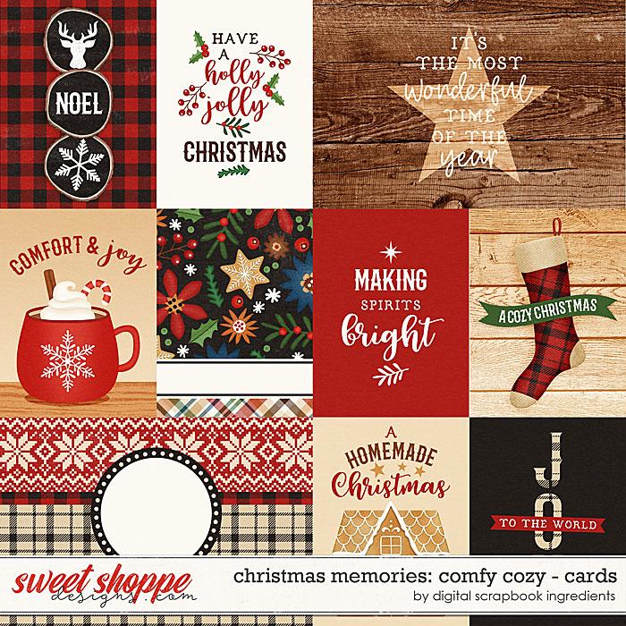 Christmas Memories: Comfy Cozy   Cards by Digital Scrapbook Ingredients