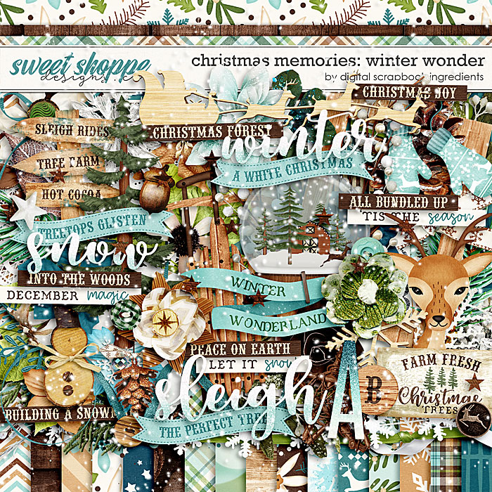 Christmas Memories: Winter Wonder by Digital Scrapbook Ingredients