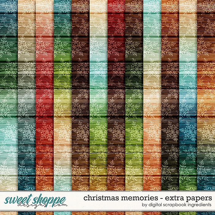 Christmas Memories | Extra Papers by Digital Scrapbook Ingredients