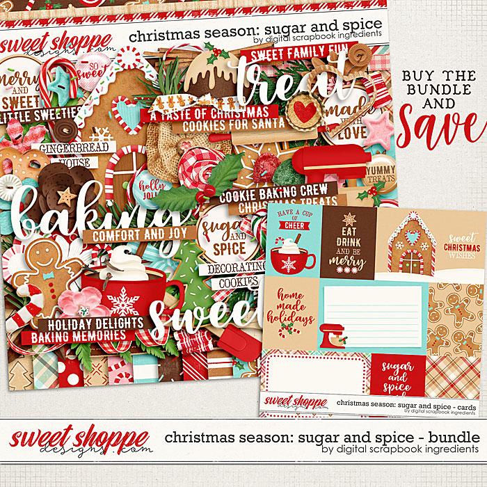 Christmas Season: Sugar and Spice bundle by Digital Scrapbook Ingredients