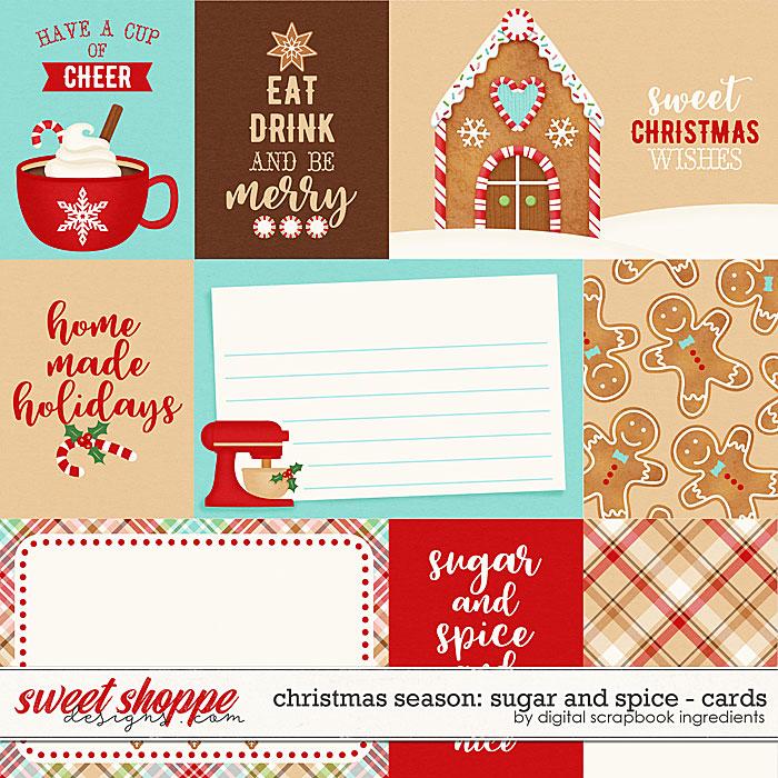 Christmas Season: Sugar and Spice | Cards by Digital Scrapbook Ingredients