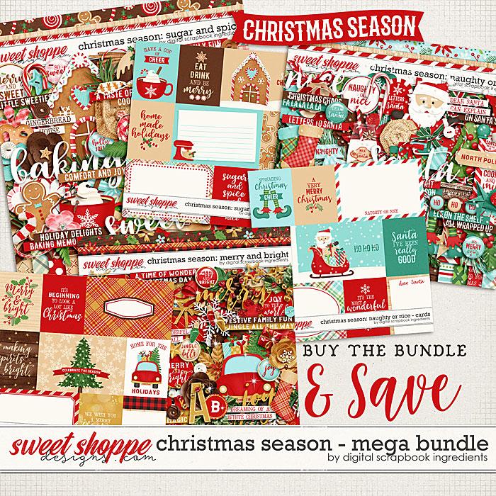 Christmas Season Mega bundle by Digital Scrapbook Ingredients