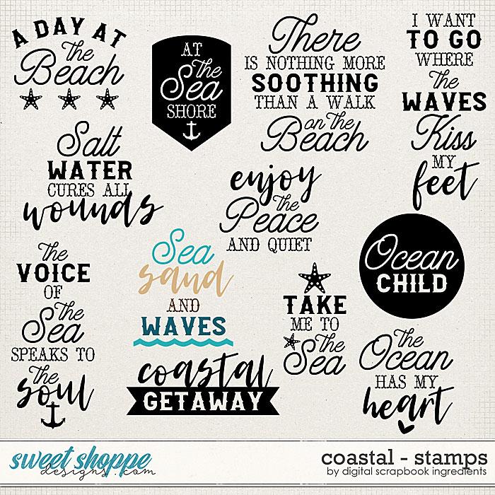 Coastal   Stamps by Digital Scrapbook Ingredients