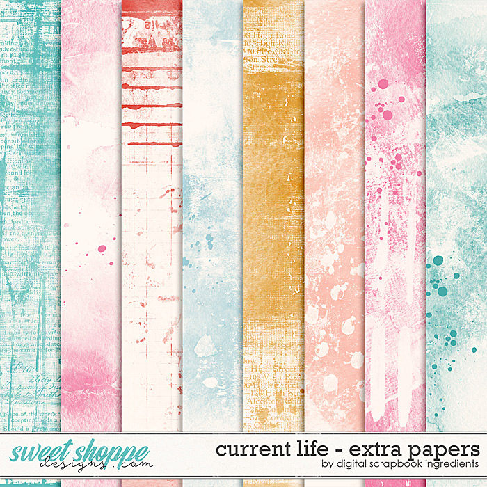 Current Life | Extra Papers by Digital Scrapbook Ingredients