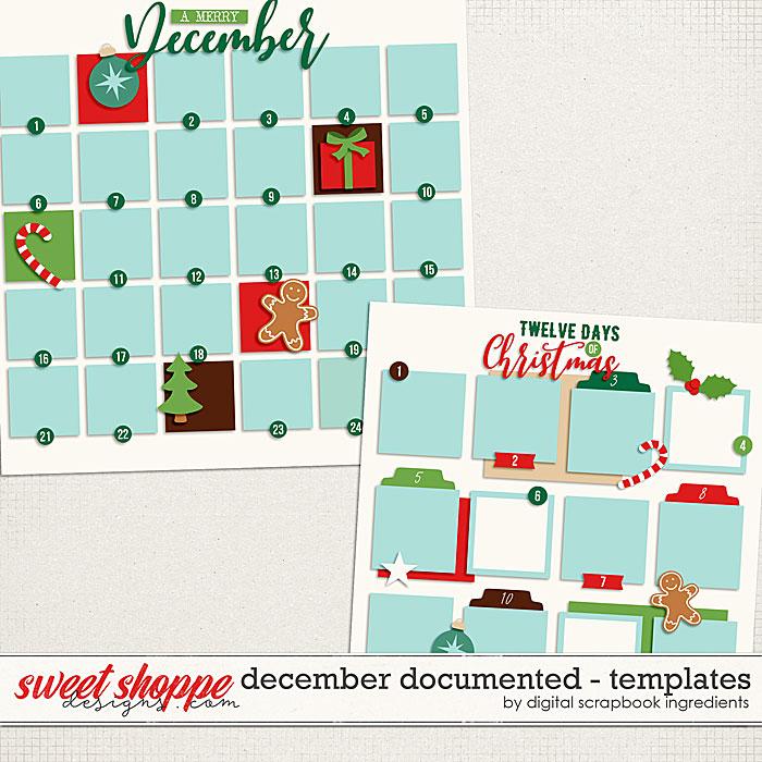December Documented Templates by Digital Scrapbook Ingredients