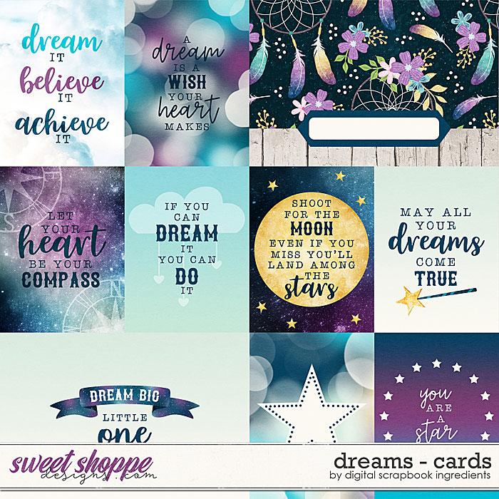 Dreams | Cards by Digital Scrapbook Ingredients