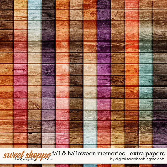 Fall & Halloween Memories | Extra Papers by Digital Scrapbook Ingredients