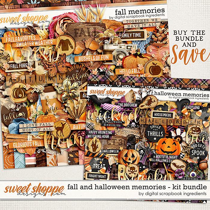 Fall & Halloween Memories Kit Bundle by Digital Scrapbook Ingredients