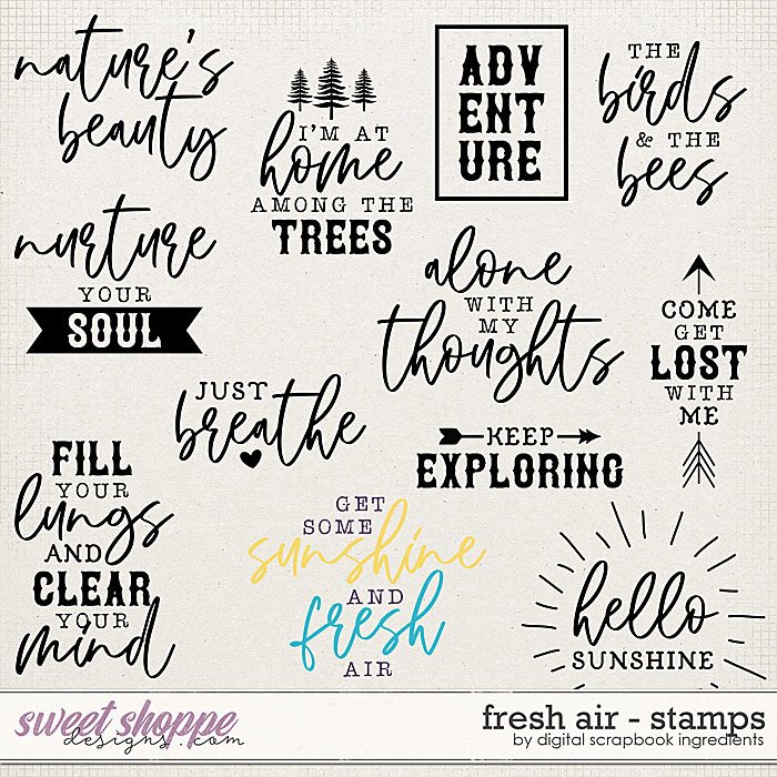 Fresh Air | Stamps by Digital Scrapbook Ingredients
