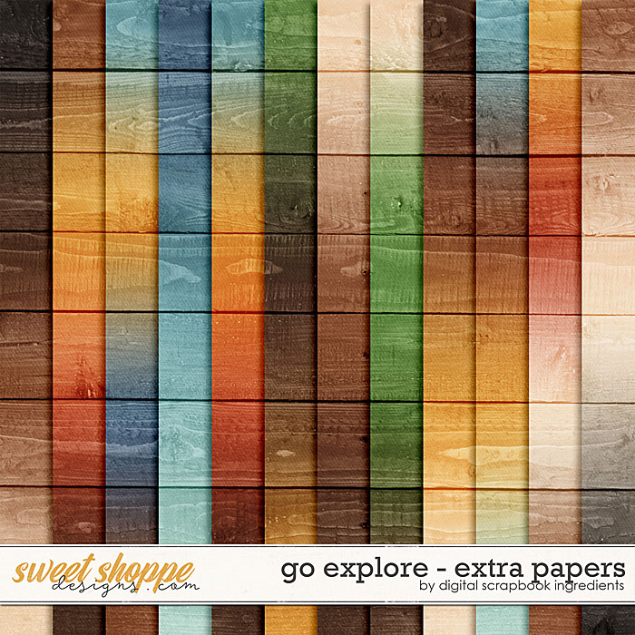 Go Explore | Extra Papers by Digital Scrapbook Ingredients