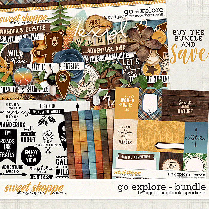 Go Explore Bundle by Digital Scrapbook Ingredients