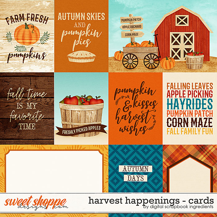 Harvest Happenings | Cards by Digital Scrapbook Ingredients