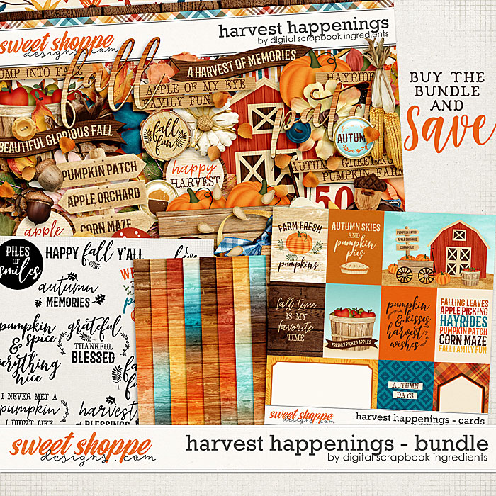 Harvest Happenings Bundle by Digital Scrapbook Ingredients