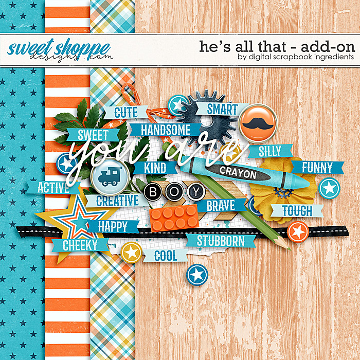 He's All That Add-On by Digital Scrapbook Ingredients