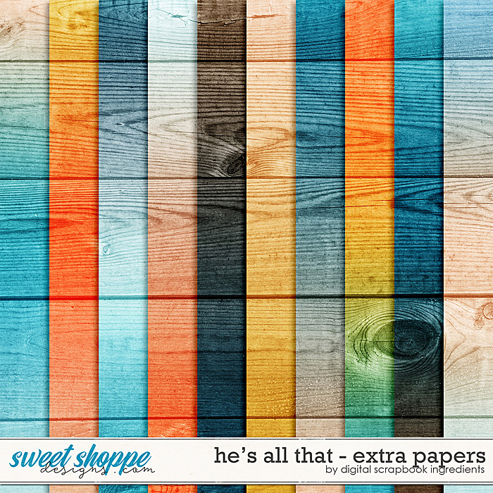 He's All That | Extra Papers by Digital Scrapbook Ingredients
