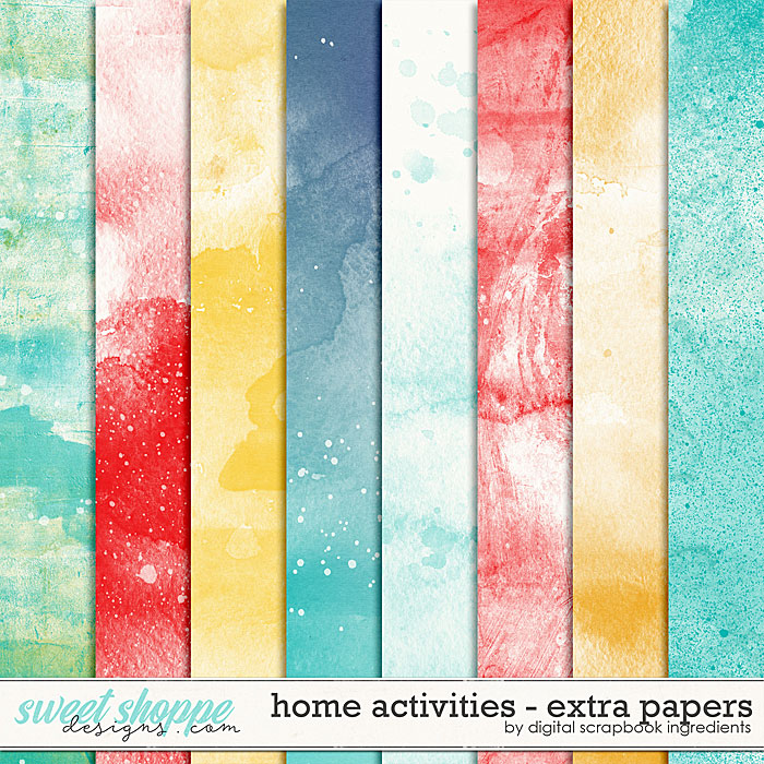 Home Activities | Extra Papers by Digital Scrapbook Ingredients