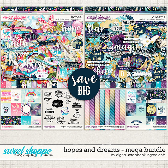 Hopes & Dreams Mega Bundle by Digital Scrapbook Ingredients