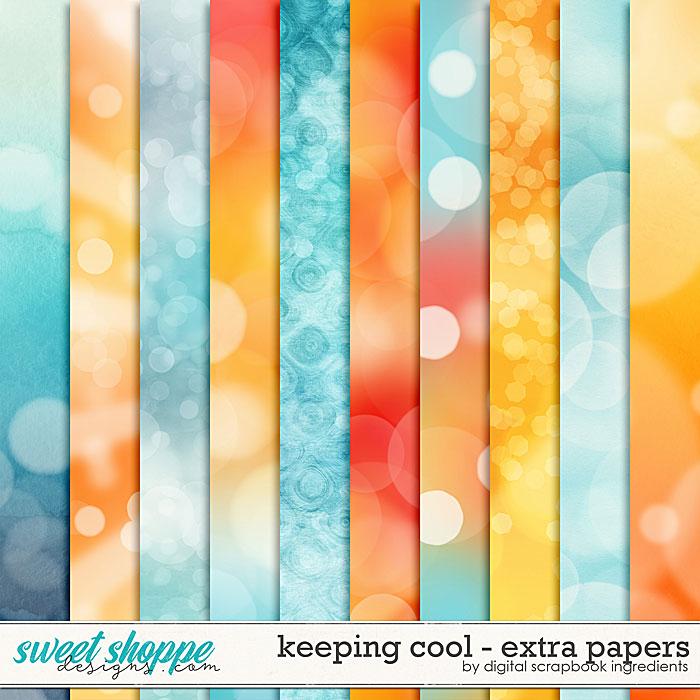Keeping Cool | Extra Papers by Digital Scrapbook Ingredients