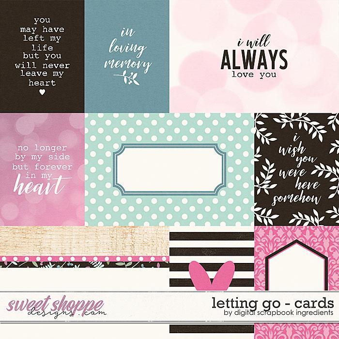 Letting Go | Cards by Digital Scrapbook Ingredients