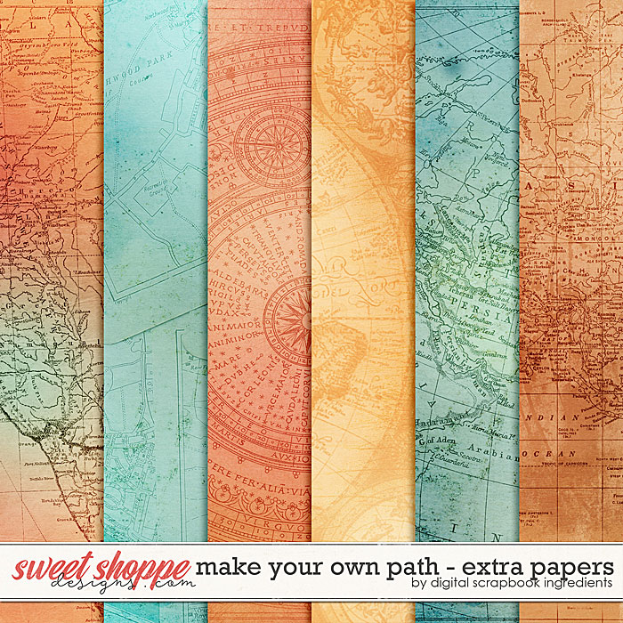 Make Your Own Path | Extra Papers by Digital Scrapbook Ingredients