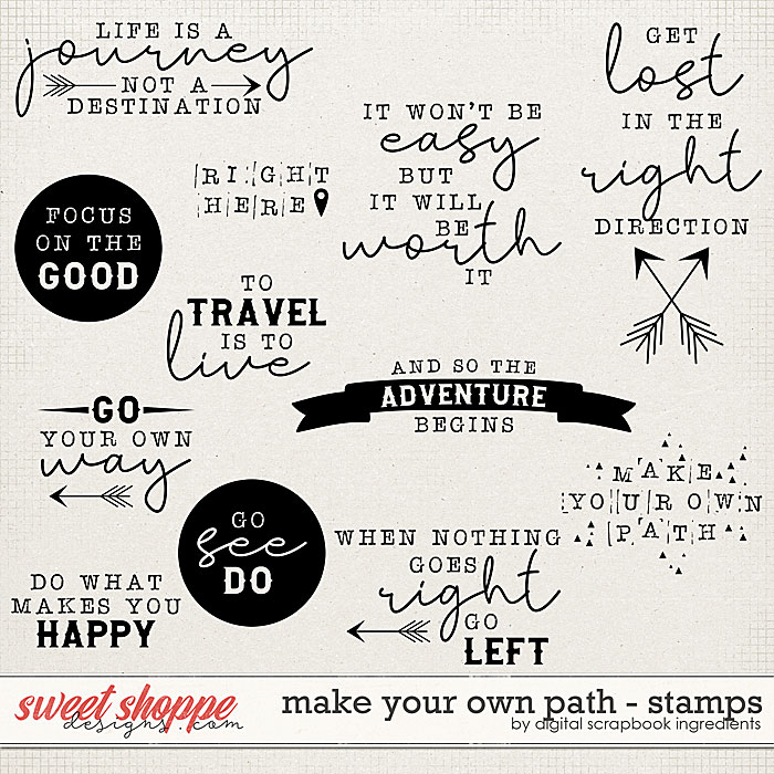 Make Your Own Path | Stamps by Digital Scrapbook Ingredients