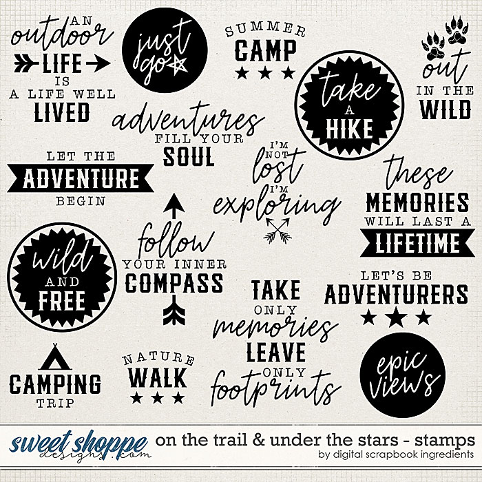 On The Trail & Under The Stars | Stamps by Digital Scrapbook Ingredients