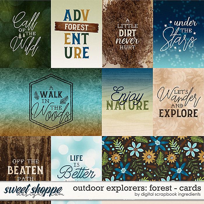 Outdoor Explorers: Forest   Cards by Digital Scrapbook Ingredients