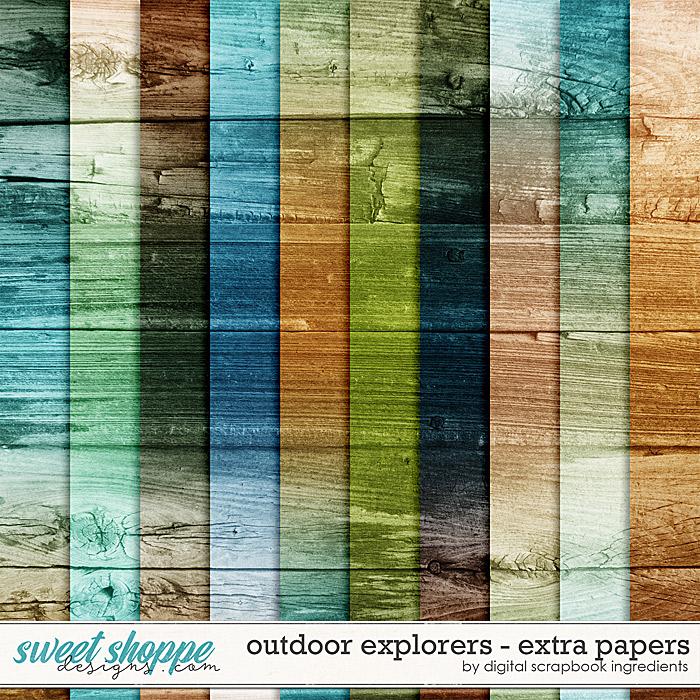 Outdoor Explorers | Extra Papers by Digital Scrapbook Ingredients