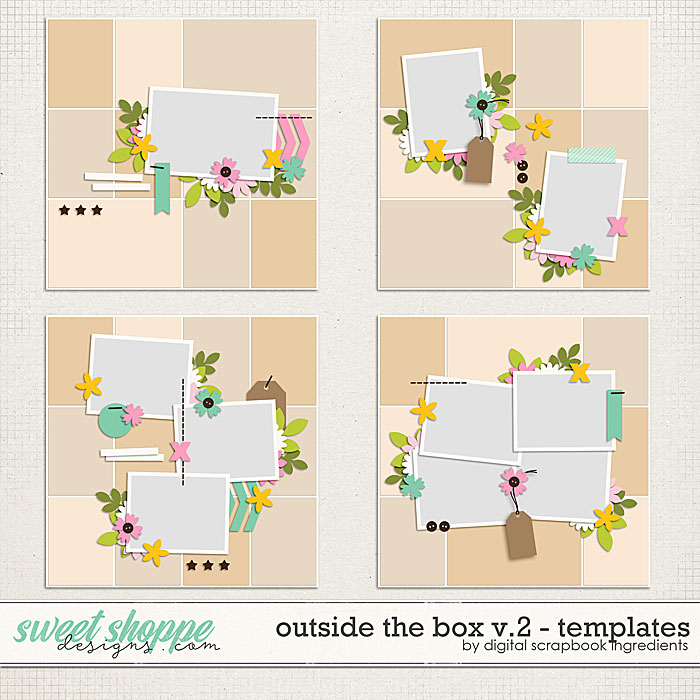 Outside The Box Templates Vol.2 by Digital Scrapbook Ingredients