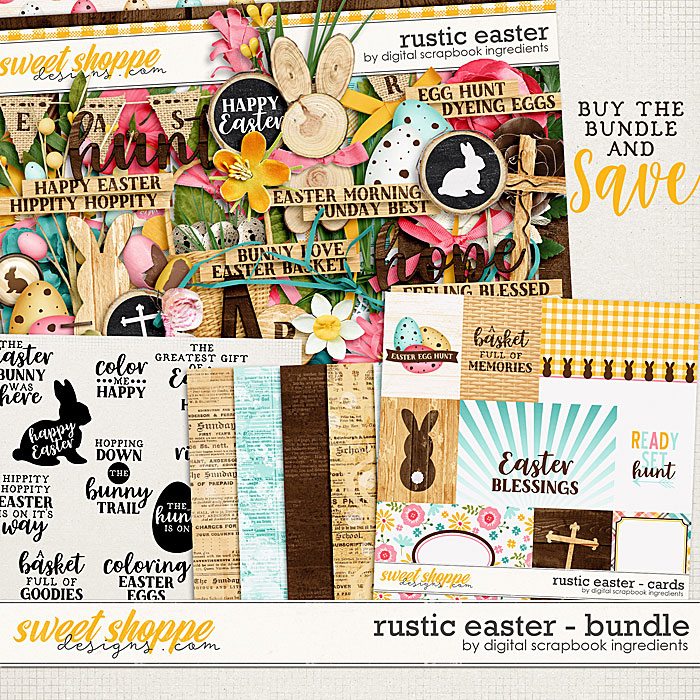 Rustic Easter Bundle by Digital Scrapbook Ingredients
