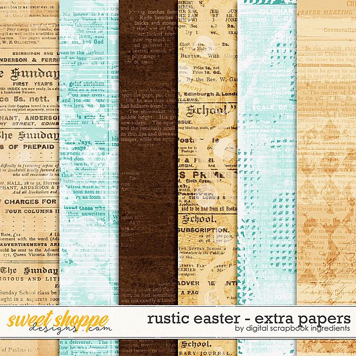 Rustic Easter | Extra Papers by Digital Scrapbook Ingredients