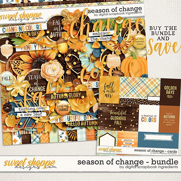 Season Of Change Bundle by Digital Scrapbook Ingredients