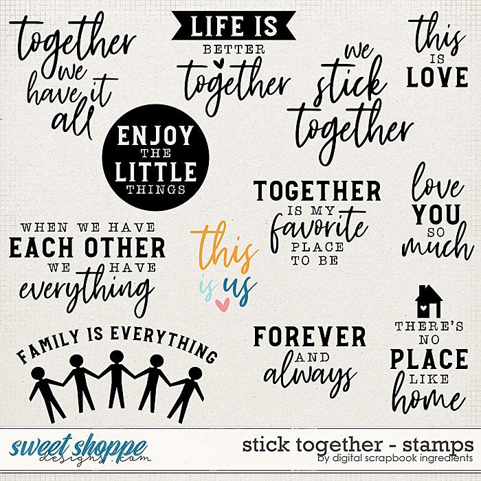 Stick Together | Stamps by Digital Scrapbook Ingredients