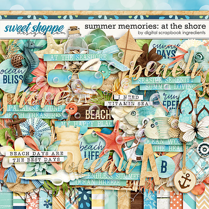 Summer Memories: At The Shore by Digital Scrapbook Ingredients